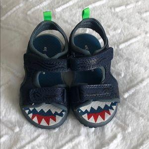 Blue Carters Velcro Light Up Sandals